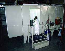 mechanical construction of paint booth system
